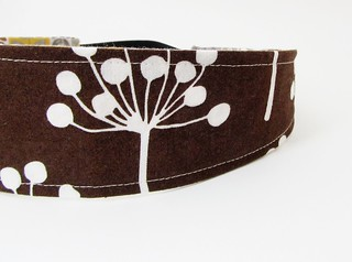 Reversible Headband - Brown Seed Pod | by BCharmer