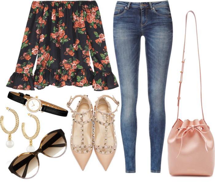 hm floral off shoulder top
