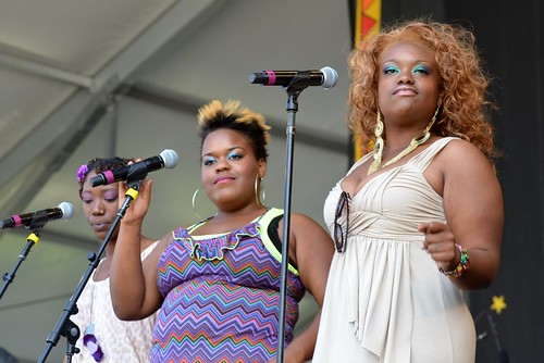 Backup Singers with Erica Falls at New Orleans Jazz & Heritage Festival, Friday, May 4, 2012 | by Offbeat Magazine