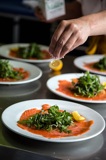 Seasoning the Salmon Crudo | by John A. Dryzga