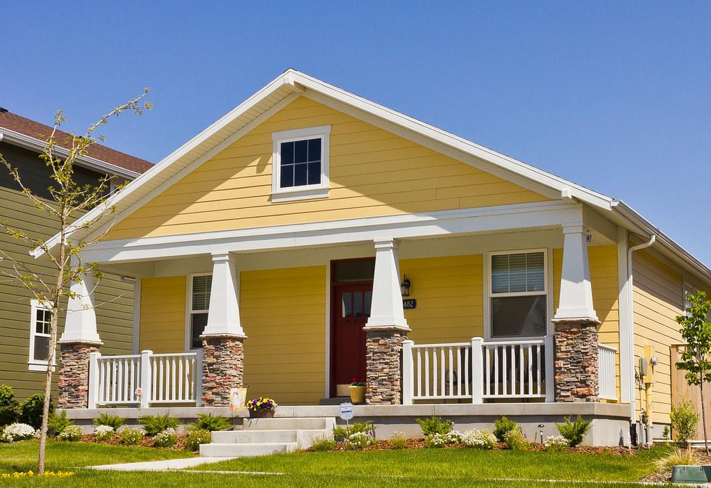 Modern Yellow Bungalow House