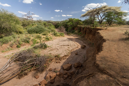 Dried riverbed in Masai land | by blieusong