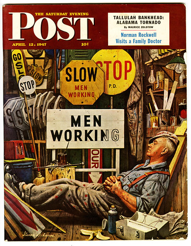 Slow Down: Men At Work (illustration by Stevan Dohanos) | by paul.malon