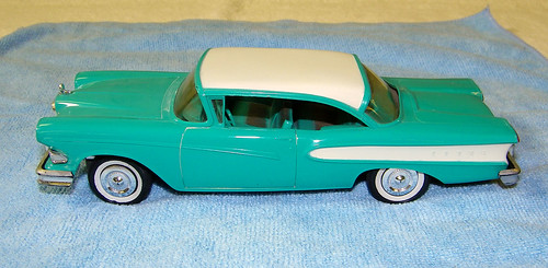 1958 Edsel Pacer 2 Door Hardtop Promo Model Car - Turquoise and Snow White | by coconv