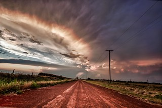 evening clouds down the road | by Marvin Bredel