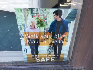 Walk Your Bike. Make a Friend. poster, San Jose CA 28 June 2016