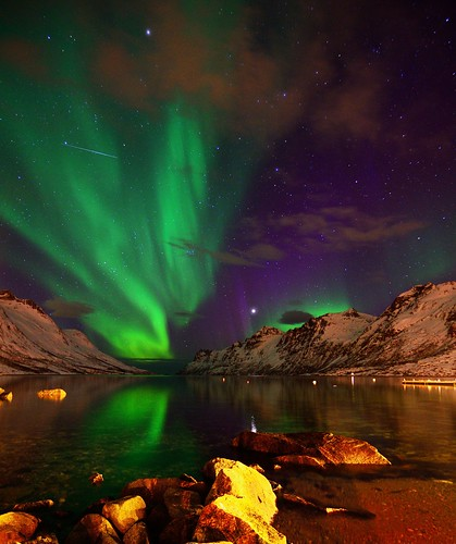 Ersfjordbotn with aurora and more... | by John A.Hemmingsen