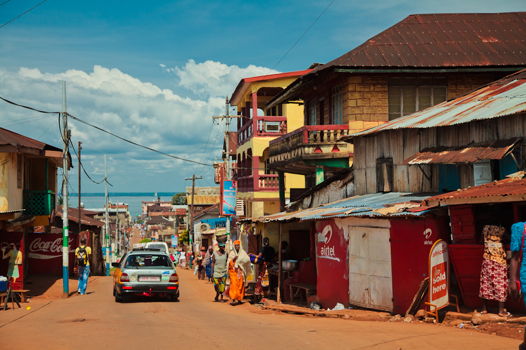 Street in Freetown, Sierra Leone