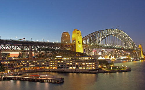 The Park Hyatt Sydney and Sydney Harbour Bridge | by on the water photography