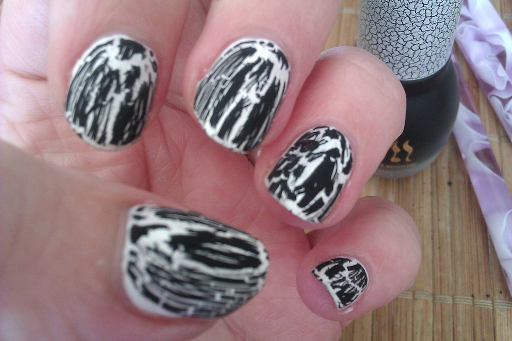 Black Crackle Nail Polish Design Ideas for Beginners | Flickr