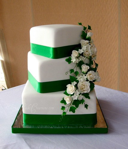 St. Patricks Day Wedding | by Elegant Cake Creations AZ