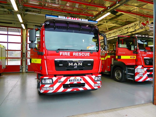 Devon&Somerset Fire & Rescue service Man TGM15.280 2nd away Danes Castle | by british fire rescue pics