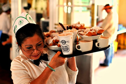 Cafe Au Lait and Beignets ~ Cafe Du Monde ~ New Orleans | by Viewminder