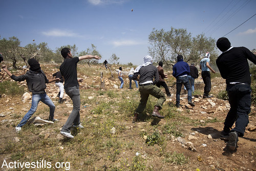 Demonstration in Kfer Qaddum against the occupation and settlements, West Bank, 20.04.2012 | by Activestills
