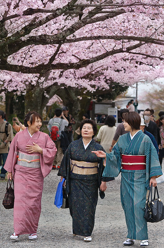 Dressed up for cherry blossom viewing  -Kyoto | by Phil Marion