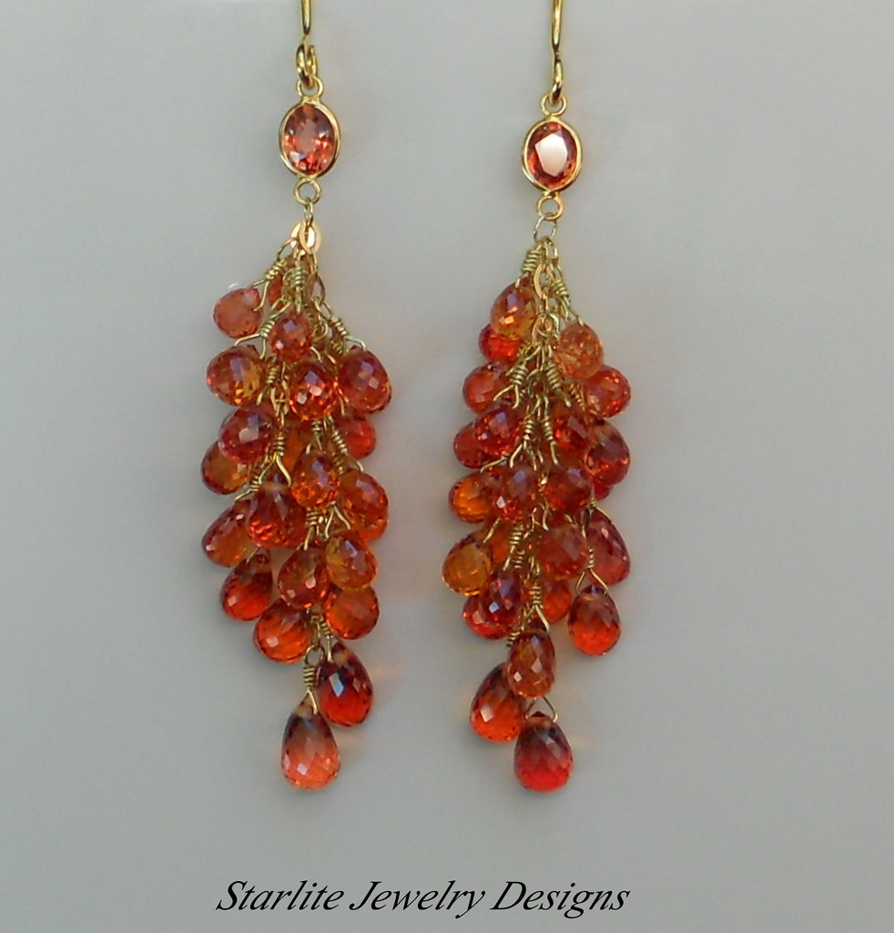 zafiro padparadscha zafiros paparacha more earrings and artistic sapphire high en views sapphires jewelery pendientes