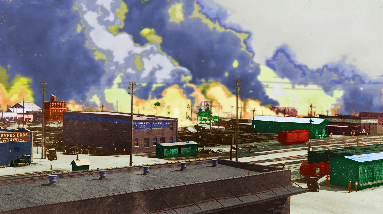 Colorized image from the Tulsa Race Riot. | by imarcc