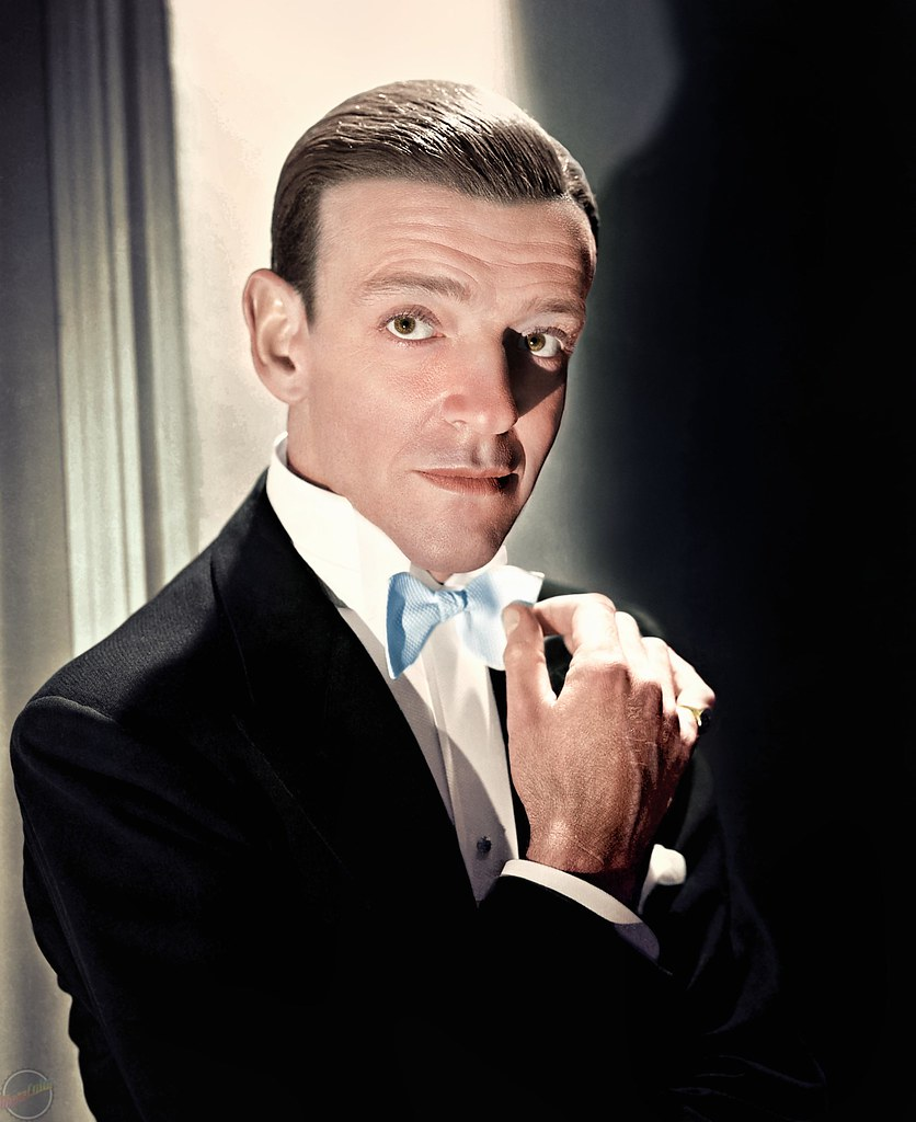 Colorized black and white photo of fred astaire by metacolor