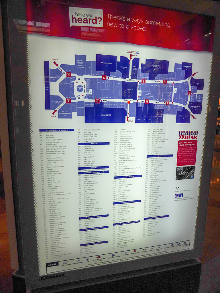 Great Lakes Mall Map Great Lakes Crossing Directory | This directory does a fairl… | Flickr Great Lakes Mall Map