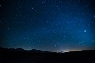 Venus and The Night Sky Over Mammoth | by John Lemieux