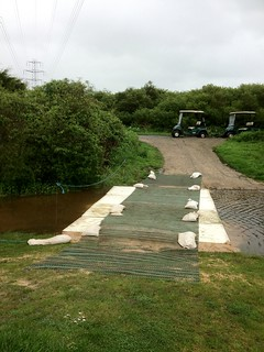 Improvised bridge to keep the golfers moving.... | by J+B=Us