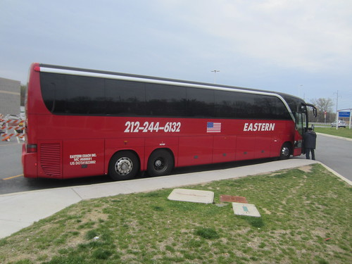 Eastern Shuttle Tours bus at Delaware Welcome Center Trave ...