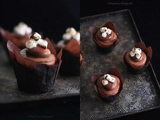 Chocolate Toasted Marshmallow Cupcakes | by Xiaolu // 6 Bittersweets