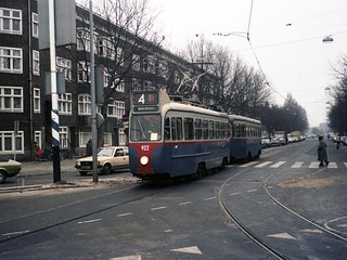 GVB Amsterdam 922+968, Lijn 4, Rooseveltlaan (1981) | by Library of Amsterdam Public Transport