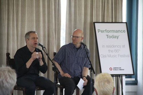 Jeremy Denk and Fred Child at Subscriber's Breakfast | by ojaimusicfestival