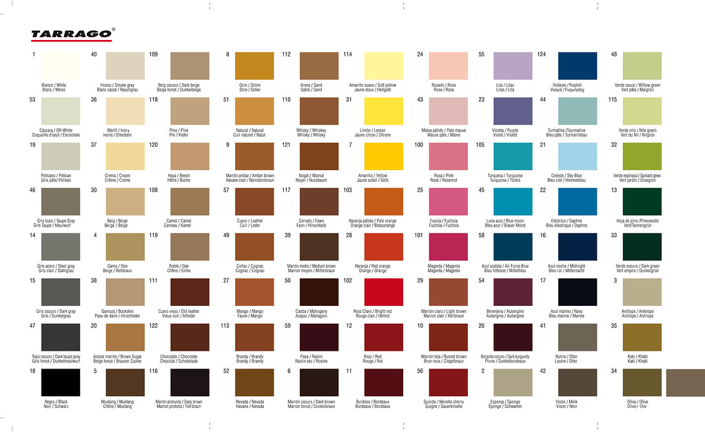 Carta de colores general. General Tarrago Color chart. | Flickr