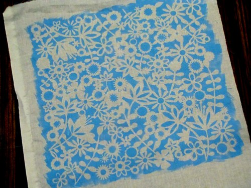 handprinted fabric | by Kleas'