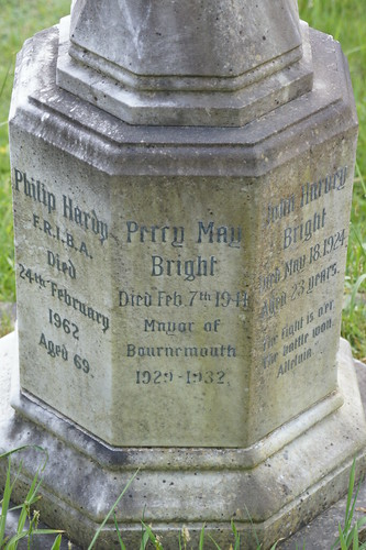 Bright grave, Wimborne Road Cemetery, Rush Corner / Cemetery Junction, Bournemouth, Dorset | by Alwyn Ladell
