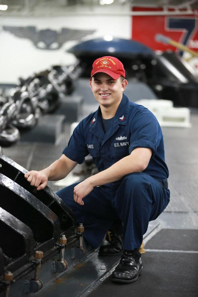 Petty Officer 3rd Class River Davis, a damage controlman a… | Flickr
