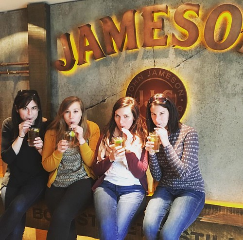 Sipping our Jameson. #ProTip: When in Dublin, skip the Guinness brewery. Go straight to the Jameson distillery.