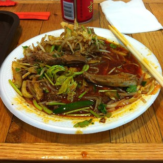 Lamb Face Salad @ x'ian famous foods | Spotted on ...
