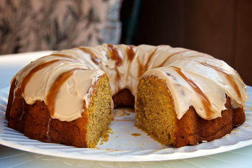 134/365 - Pumpkin Bundt Cake with Caramel Cream Cheese Frosting | by djwtwo