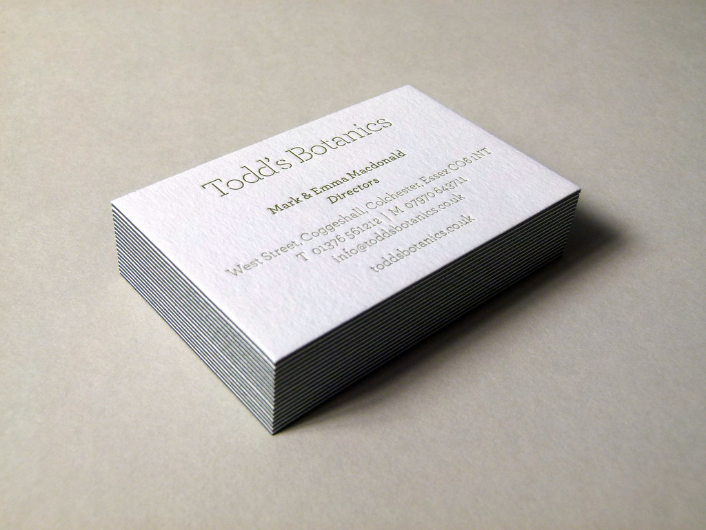 Letterpress business cards printed & debossed onto 810gsm … | Flickr