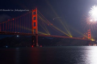 "golden gate bridge 75th fireworks 2012 "" Catch me if you can "" 