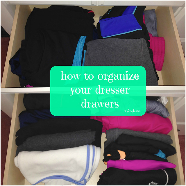 How to Organize Your Dresser Drawers - Before and After