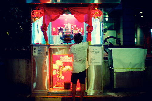 Maxwell Hawker Center Buddhist Altar | by Jon Siegel