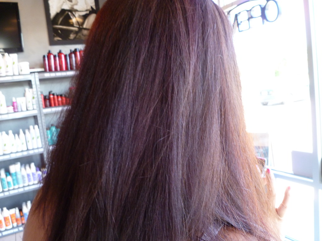 Chocolate Brown All Over Hair Color With Subtle Red Highli Flickr