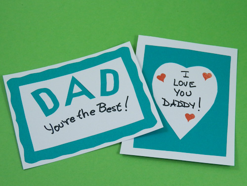 example of simple father s day card front and back flickr
