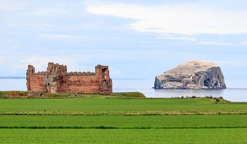 Tantallon Castle And Bass Rock Scotland United Kingdom