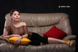 Cindi on the sofa | by Adrien Chan