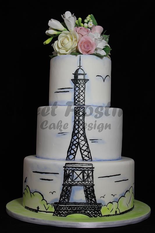 Paris Birthday Cake Paris Inspired Birthday Cake For My Mo Flickr