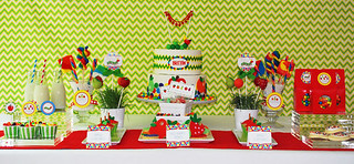 Caterpillar Dessert Table with Fruit Shaped Cake Pops | by Sweet Lauren Cakes