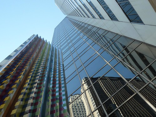"Chicago, ""Communication X9"" by Yaakov Agam, Abstract Sculpture with Reflections 