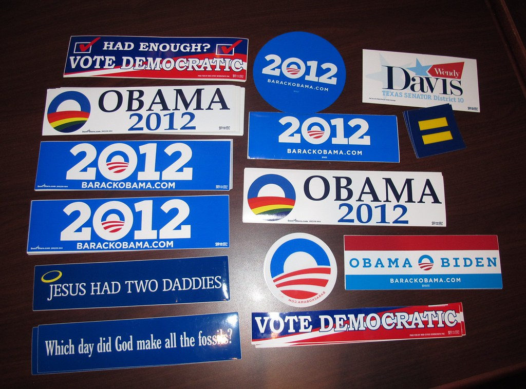Obama democratic party liberal bumper stickers by easyaim