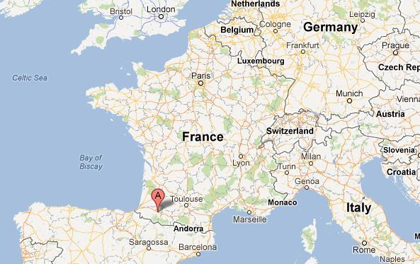 Pau, France | Google Maps Printscreen | Abbigail Bishop | Flickr
