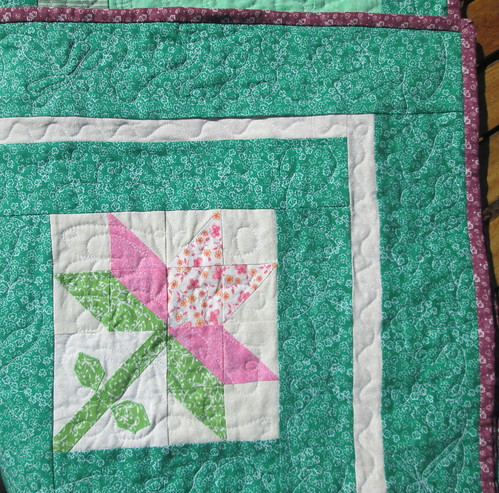 Block and corner quilting detail